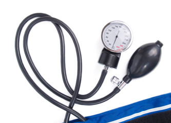 Blood pressure isolated on white background