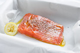 Fresh salmon ready to cook