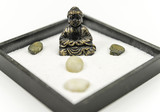 Zen garden with Buddha