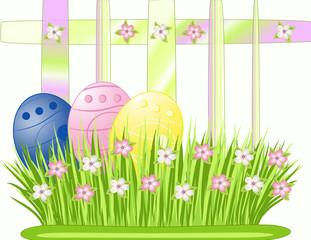 Osternnest auf weißen Hintergrund