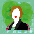 Modern Business Woman Illustration