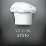Background with white chef cap toque vector