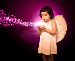 Angel little girl