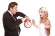 Wedding couple quarreling conflict bad relationships
