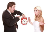 Wedding couple quarreling conflict bad relationships