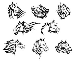 Horse head tribal tattoos