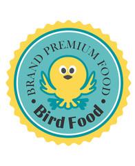 Premium bird food icon