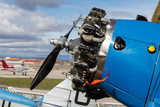 old engine and propeller aircraft