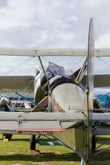 Vintage aircraft seen from the helm