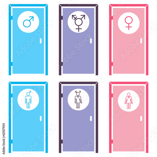 WC doors for different gender identities