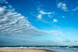 Clouds over the famous beach  Jose Ignacio in Uruguay
