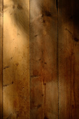 Sunlight on old wooden floor