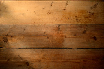 Sunlight on old wood floor