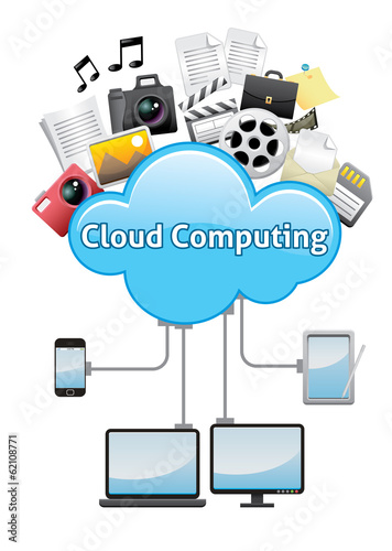Cloud computing abstract background concept
