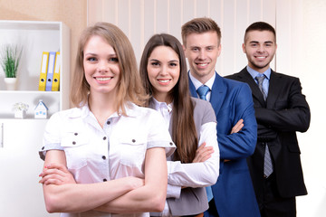 Successful young businesspeople at office