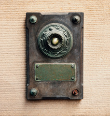 Doorbell - vintage style made from steel and copper