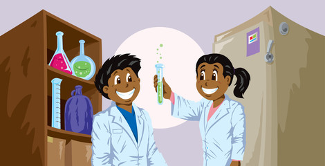 Cute Science kids