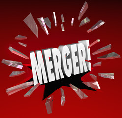 Merger Word Breaking Story Smash Through Glass Big News Update