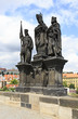 Statue of Saints Norbert of Xanten, Wenceslas and Sigismund on C