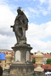 Statue of St. Anthony of Padua. Charles Bridge in Prague.