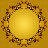 vintage frame on a gold background