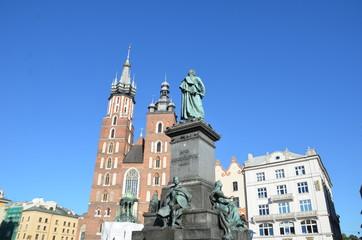 Monument d'Adam Mickiewicz ,Cracovie
