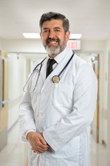 Mature Hispanic Doctor Smiling
