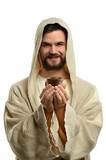 Jesus Holding Communion Cup