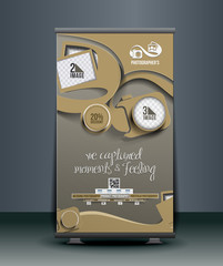 Photography Studio Roll Up Banner Design