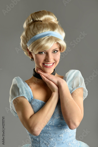 Woman in princess costume