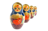 Russian matryoshka isolated on white