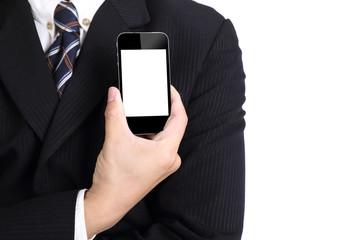Businessman hold smart phone