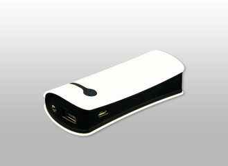 Powerbank isolated on white background