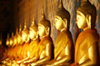 Golden buddha in temple - 62112303