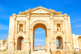 The Arch of Hadrian in Gerasa, Jerash, Jordan