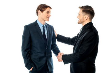 Successful partners shaking hands