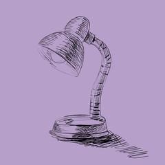 lamp hand draw