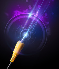 Glowing electric cable