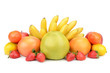 fruit set isolated on a white background