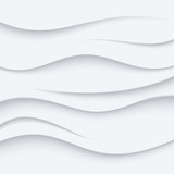 Fototapety White Wavy lines vector Background abstract. Sand top view.