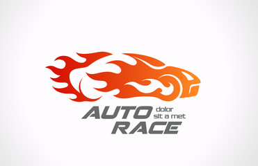 Sport Car Speed Race Logo vector design template