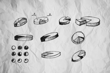 Pie Charts and other infographics drawing
