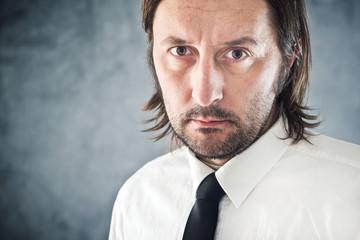Determined Businessman portrait with copy space