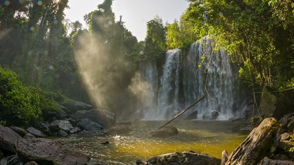 Video 1920x1080 - Big waterfall in Phnom Kulen National Park