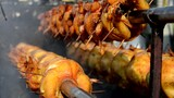 street food, grilled chicken
