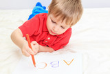 child writing letters