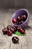 Fresh and tasty cherries