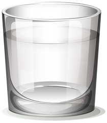 A clear glass