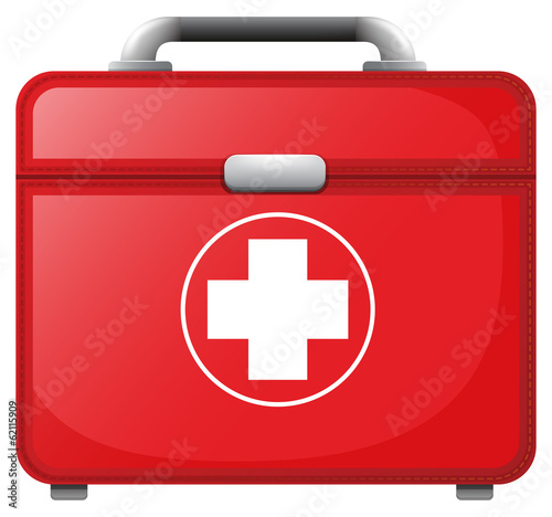 A red medical bag