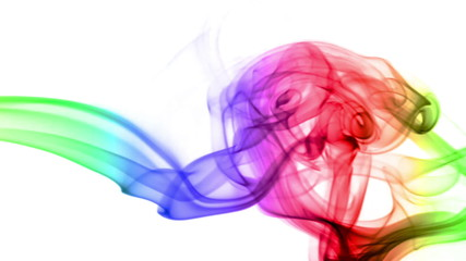 Abstract Background with Colored Real Smoke